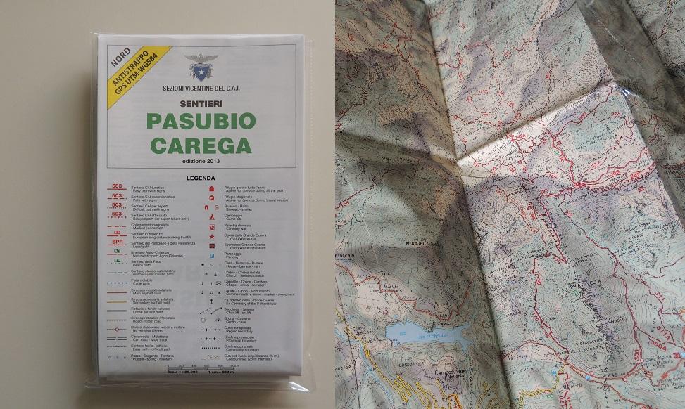 Carta dei sentieri Pasubio Carega