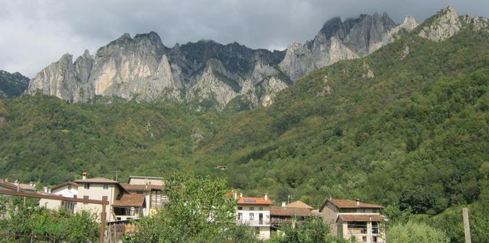 La vista sul Monte Pasubio