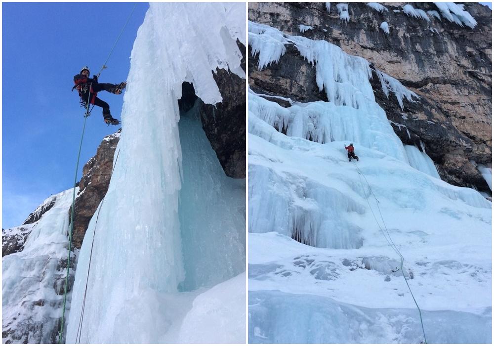corso base cascate di ghiaccio