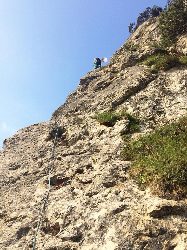 Alpinisti, Spigolo delle Clessidre