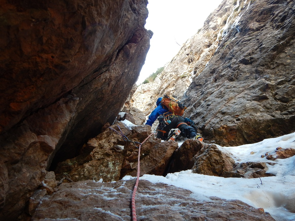 Uscita dal 2° salto di roccia