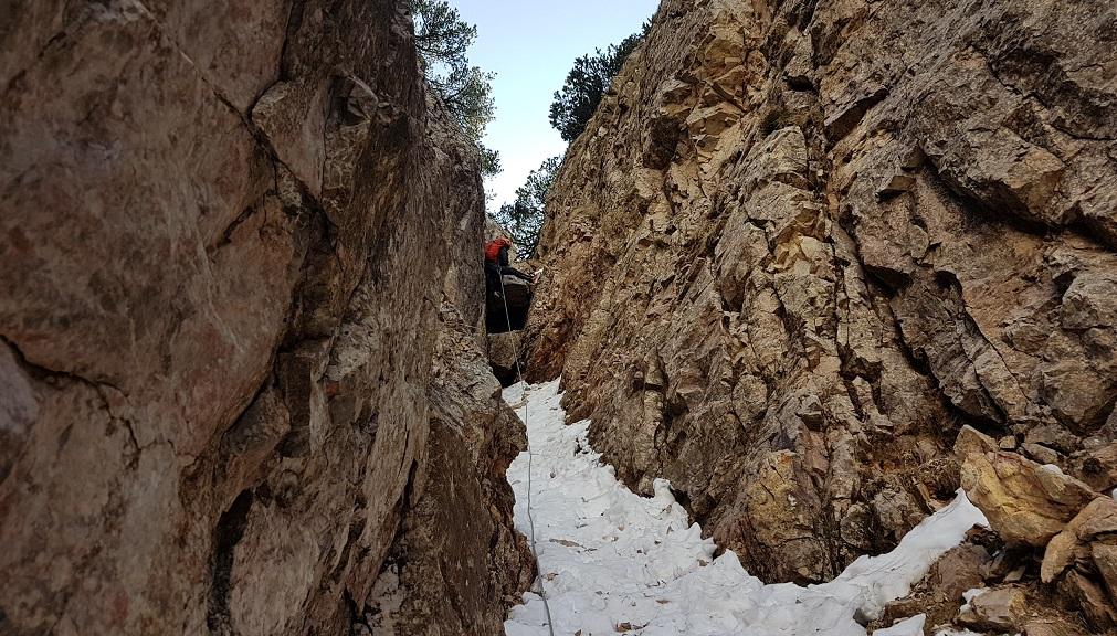 Superamento del 3° salto di roccia