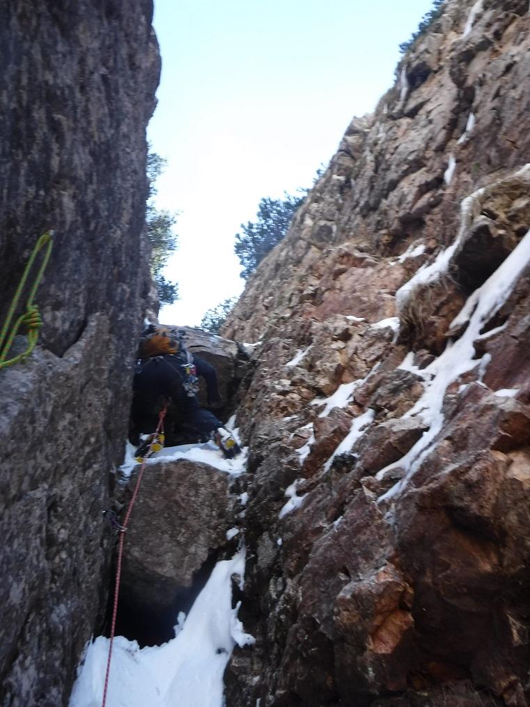 Superamento del 4° salto di roccia