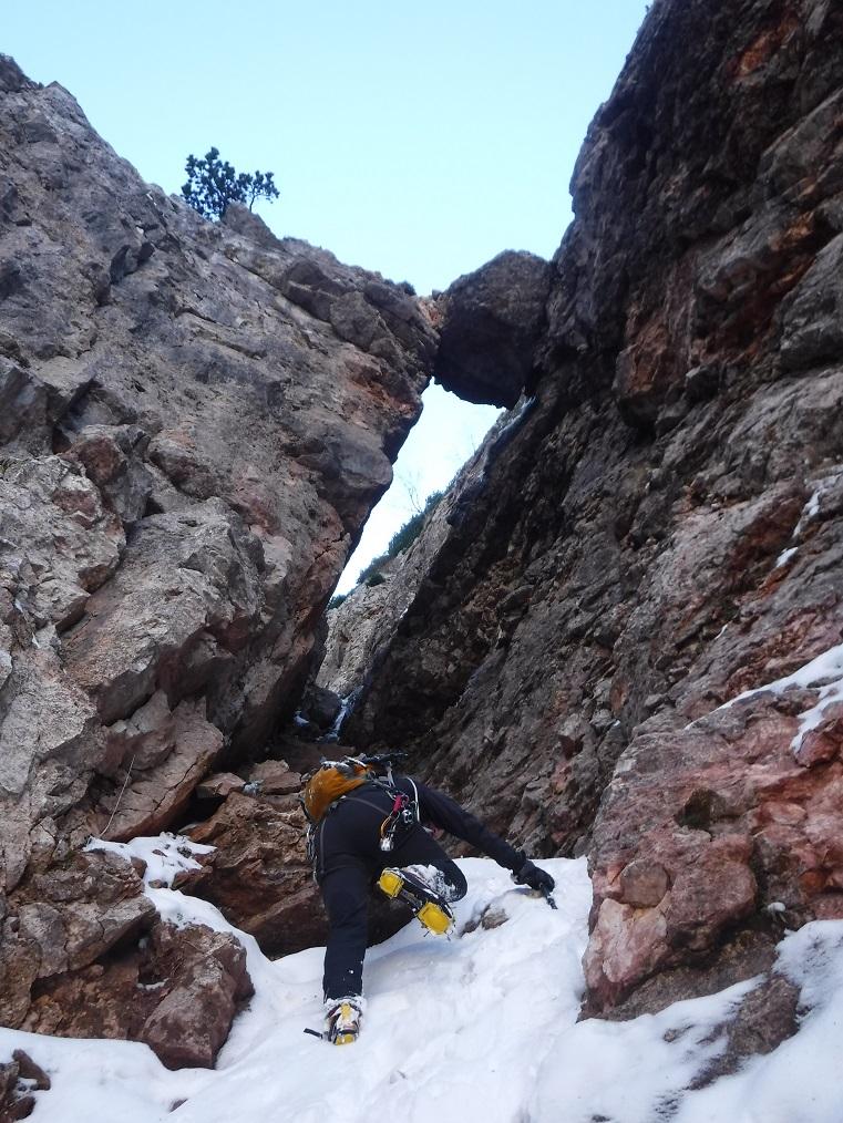 Avvicinamento al 1°saltodi roccia