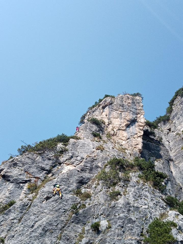 Alpinisti su Pilastro Stenghel